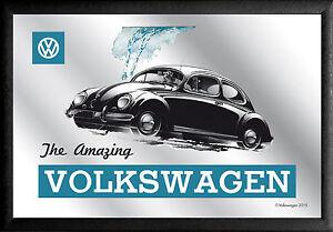 VW Volkswagen Amazing Beetle Nostalgia BAR Mirror 22 X 32 CM