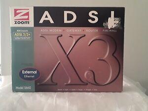 Zoom 5660 X3 ADSL Router - 1 x 10/100Base-TX LAN, 1 x ADSL Modem WAN