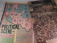Vintage Sunday News New York Newspaper Print Sept 12 1948 Political Map