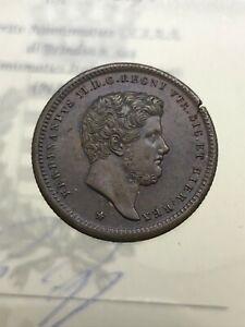 2 Tornesi 1852 Ferdinando II di Borbone SPL