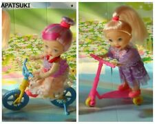 Kids Toy Set 1/12 Dollhouse Toy Scooter & Bicycle Mini Toy For 1/6 Doll House
