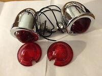 2 bullet marker turn signal light red 12v dual filament w/ 2 extra lenses harley