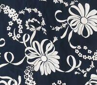 Vintage 40s Silky Rayon Black & White Tropical Hawaiian Shirt Fabric Japanese