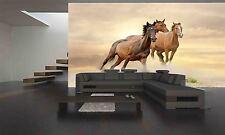 Horses Running In Dust  Wall Mural Photo Wallpaper GIANT DECOR Paper Poster
