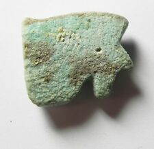 ZURQIEH -  ANCIENT EGYPT ,  FAIENCE EYE OF HORUS AMULET , 600 B.C