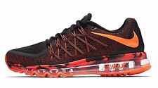 Nike Air Max 2015 Premium Shoe Mens size 9.5 Black Total Orange 749373-008