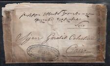 EGYPT - ARMENIA 1851 ENTIRE TO GARABED KALOUSDIAN IN CAIRO POSTA EUROPEA CDS.