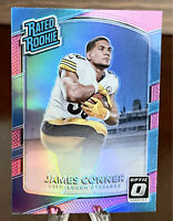 "JAMES CONNER 2017 DONRUSS OPTIC PINK ""HOLO"" PRIZM RC # 172 Steelers STUD RB 😤😤"