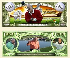 Memory of Arnold Palmer Dollar Bill Fake Funny Money Novelty Note + FREE SLEEVE