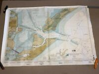 "53"" Galveston Bay Entrance Texas City Harbors Ocean Service Coast Survey Map"