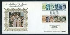 Great Britain 60th Birthday of HM Queen Elisabeth 2nd  silk first day cover #13