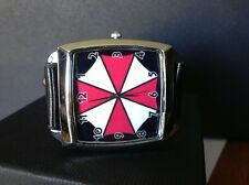 BIOHAZARD RESIDENT EVIL :MONTRE RECTANGLE CUIR UMBRELLA + BOITE..NEUVE