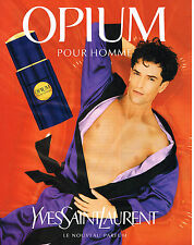 PUBLICITE ADVERTISING  1996   YVES SAINT LAURENT  parfum OPIUM pour homme 2