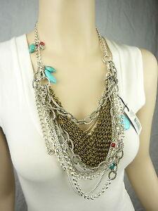 MIMCO Jewellery- Jett Rink Chain Drape Neck/ Necklace BNWT rrp$249- Turquoise