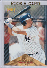 Derek JETER ROOKIE CARD Pinnacle RC Baseball Yankees 3,000 HITS!