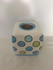 Ex cell tissue box cover polka dot new ceramic
