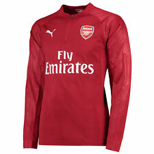 Arsenal Fußball Training 1/4 Zip Top Langarmshirt Sweatshirt Rot Herren Puma