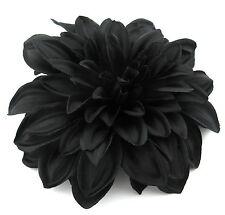 """4 1/2"""" Goth Black Dahlia Silk Flower Brooch Pin, Halloween, Prom,Dance,Bridal"""