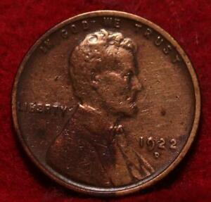 1922-D Denver Mint Copper Lincoln Wheat Cent