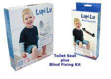 NEW *VALUE* Lupi Lu Dual Toilet Seat & Blind Fixing Kit Set Adult & Child Seat
