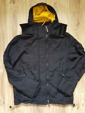 Superdry Black & Yellow Windcheater Triple Zip Fleece Hooded Jacket/Coat Size S