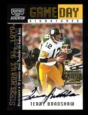 2000 Playoff Momentum Terry Bradshaw Autograph Card-Steelers vs.Cowboys 02/75