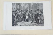 Druck Buchseite Napoleon Adieux de Fontainbleau M. Sandoz (N98)