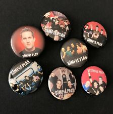 Simple Plan Rock Punk Pop Music Pin Button Badge Memorial Lot 7pcs 🇨🇦 Seller