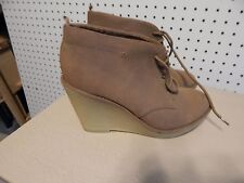 Womens Old Navy wedge ankle boots ~ brown ~ size 8