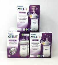 6-Pk Philips Avent Baby Bottles, Natural, Colic Reduce, 9oz Wide-Neck, 1m+ (F4)
