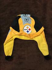 Pittsburgh Steelers Vintage Helmet Winter Hat Cap w/ Flaps Steel Curtain