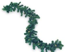 Pre-Lit Pine Garland Christmas Decor Color Changing Led Indoor Outdoor 9ft Timer