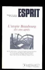 ESPRIT 2.1987 L'Utopie BEAUBOURG dix ans après