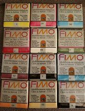 Lot of 12  Fimo 2.2 Oz (65g) Polymer Sculpting Clay Blocks unopened
