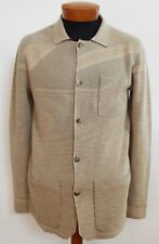 $610 NWT Authentic MISSONI Tan Cotton Wool Knitted Cardigan Sweater EU-48 M