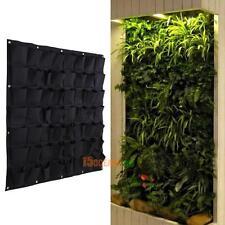 56Pocket Hanging Vertical Wall Garden Planter Indoor Outdoor Herb Pot Home Decor