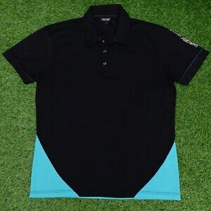 Galvin Green Ventil8 Golf Mens Polo Shirt Black & Teal Size Large