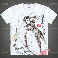 Anime Diarmuid Fate/Grand Order T-shirt Short Sleeve Unisex Tops Ink Print