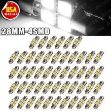 50PCS White LED Bulbs 27mm / 28mm Festoon Interior Dome Map Lights DE3021 3528