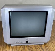 "VG RCA 14F512T 14"" Truflat Screen CRT TV Retro Video Game Setup TESTED & WORKS!"
