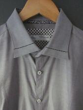 Poggianti Camisa de 1958 (16.5 - fitted) Gris De Algodón Manga Larga S/puños Excelente Uso
