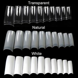 100pcs Tips Half French False Nail Art Tip with Well Acrylic UV Gel Extension
