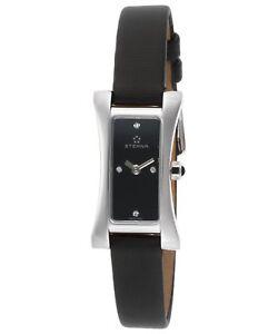 Eterna Women's Vintage Sahida Diamond Black Satin Swiss Quartz Watch 2610-41-46