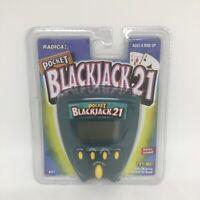 Radica Pocket Blackjack 21 1999 Handheld Electronic Game