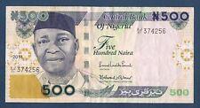 BILLET de BANQUE du NIGERIA - 500 NAIRA Pick n° 30 de 2014 en SUP  AJ/51 374256