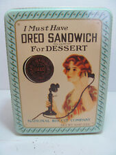 OREO COOKIE TIN  NATIONAL BISCUIT REPLICA OF 1918 ADVERTISEMENT