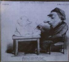 Barye Caricatured as a Bear, Antoine-Louis Barye, Magic Lantern Glass Slide