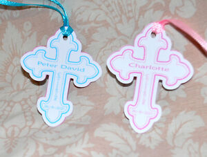 personalised  Christening tags  (A)