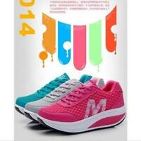 Breathable Womens Casual Mesh Shape-Up Lace Up Walk Sport Running Sneakers Shoes