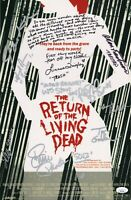 RETURN OF THE LIVING DEAD Cast (x10) Authentic Hand-Signed 11x17 Photo (JSA COA)